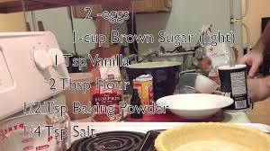 Libbys Easy Pumpkin Pie Mix by Simple Non Dairy Pumpkin Pie Youtube