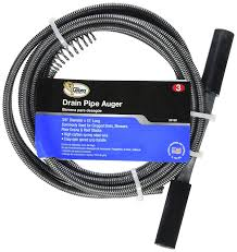 Unclogging Bathroom Sink Drain Auger by Cobra Products 20250 3 8 Inch By 25 Foot Drain Auger Amazon Com