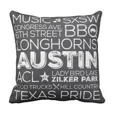 Best Of Austin Texas Throw Pillow Chalkboard