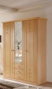 details zu kleiderschrank schlafzimmer seniorenzimmer schrank buche dekor 3 türig spiegel