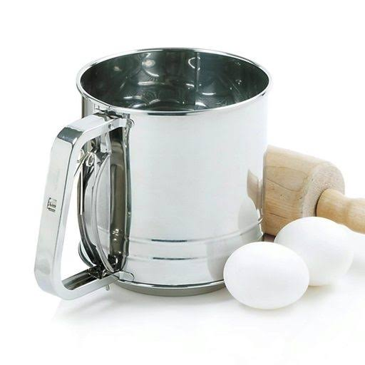 Norpro 3-Cup Triple Screen Stainless Steel Spring Action Handle Flour Sifter