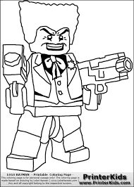 Lego Batman Joker Coloring Page