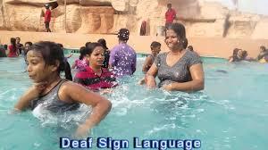 LDS Deaffamilydeaf Friends Kids Wave Pool At Wonderla Amusement ParkBangaloreISL