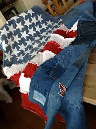 American Flag Rag Quilt This Gorgeous By Isabellabluedesigns