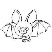 Cute Bat Says Boo Coloring Pages