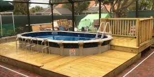 Above Ground Pool Deck Images by Pool Deck Ideas Full Deck The Pool Factory