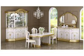barock stil speisezimmer kombination in weiss gold 8 teilig