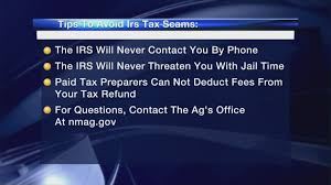 State Attorney General s office offers tips to avoid IRS tax scams