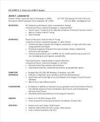 Sample Software Developer Resume Chemical Engineer Template Free Word Documents