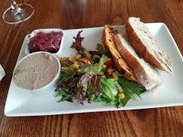 chicken liver with smoked bacon and pate with artisan bread