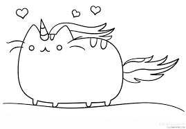 Kawaii Coloring Pages Unicorn Coloring4free