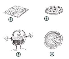 How to draw a cartoon pizza step 4