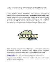 Stay Home And Shop Online Coupon Codes At Paisavasool