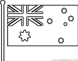 Flag Of Australia Coloring Page