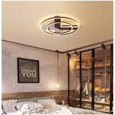 großhandel runde led deckenleuchte schlafzimmer led leuchte decke einfache moderne nordische hotelzimmer rc dimmbare led pendelleuchten honpus
