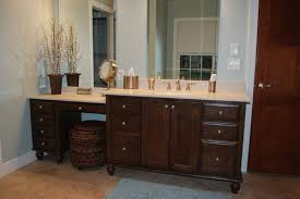 bathroom vanity with makeup area what are the dimensions of the