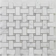 bianco carrara grey dot basket weave bianco carrara honed