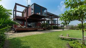 100 Containers Home A Shipping Container House With A Surprisingly Lightweight