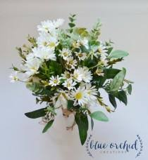 Wild Daisy Bouquet With White Wildflowers And Small Daisies