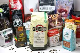 Display Of Coffee Bags And Brands
