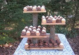 Rustic Wedding Cake Stand Cupcake Dessert