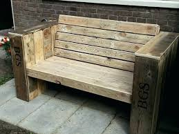 Pallet Wood Bench Incredible Wood Pallet Porch Bench And Cabinet