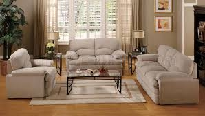 light beige fabric living room set
