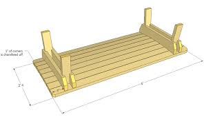 patio bench napping bench plans