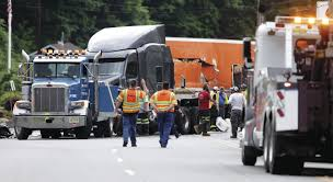 100 Commercial Truck Routes Three Trucks Two Cars Collide On Route 23 In Montague New Jersey
