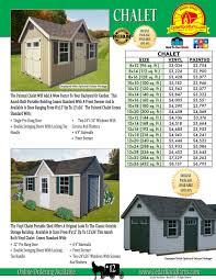 Amish Made Storage Sheds by Vinyl Chalet Portable Storage Shed U2013 Storage Sheds U2013 Garages