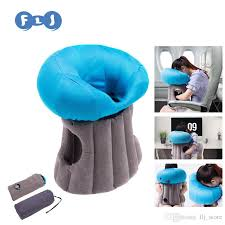 Inflatable Travel Pillow Use In Office Outdoors Sofa Case Bag Foldable Neck Cover Emoji Pillows Mushroom Cloud Modern Throw