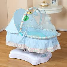 Baby Crib Electric Rocker Plus Mosquito Net Baby Swing Bed