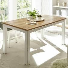 details zu esstisch landhaus tisch pinie weiß und wotan eiche esszimmertisch speisezimmer