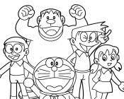 Similiar Coloring Pages Doraemon Family