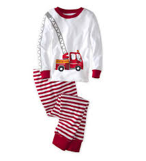 100 Fire Truck Pajamas CWDkids Long Sleeve Top Pants Walmartcom