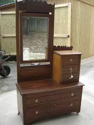 antique dresser maple hat box tilt mirror 39w18d24h45h77h spoon