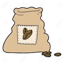 Cartoon Sack Of Coffee Beans Stock Vector