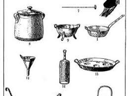 ustensiles de cuisines principaux ustensiles de cuisine en 1905 par la cuisine de melie