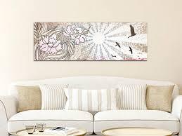 glasbild acrylglasbild wandbild für wohnzimmer blumen vögel