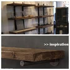 Reclaimed Wood Shelf Diy by 71 Best Metal Brackets Images On Pinterest Cast Iron Coat Hooks