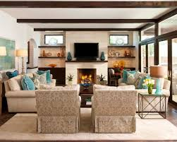 Living Room Country Home Design With Small Family Room Furniture
