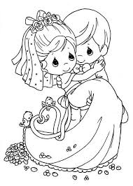 Vibrant Design Wedding Coloring Pages For Kids Precious Moments Page