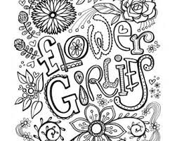 Flower Girlies PRINTABLE Coloring Book Pages