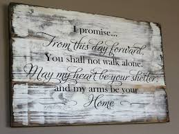 Funny Wedding Gift Inspirational Rustic Vow Wood Sign From This Day Forward Carved