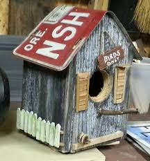 Image Of Rustic Birdhouses Design