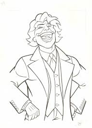Joker Dark Knight Colouring Pages