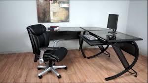 Black Glass Corner Computer Desk by Furniture Charming Walker Edison Desk Exquisite L Shaped