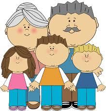 Grandparents and Grandchildren Clip Art Image