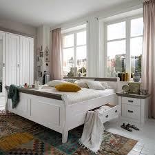 massivholzbett caneon in weiß grau landhaus kiefer wohnen de