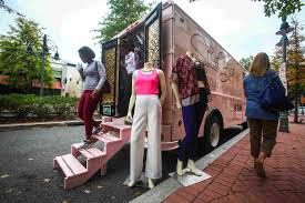 Make Room, Food Trucks: Mobile Fashion Stores Have Hit The Streets : NPR The Oprietor Of A Mobile Boutique Stands Inside His Truck In Truck For Fashionable Cosmetic Brand Gmc Marketing Used Sale Fashion Watch Culture Bloglander Lolas Lbook Brings Mobile Fashion To Long Island Newsday Truckcurb Appeal Custombuilt By Apex Turnkey Fashion Business Florida 2018 Penticton Council Supports Retail Vendors Western Ever Wonder What Does The Offseason Racked Boston Truckshop Boutique Is Rolling Success Youtube American Retail Association Midwest Pin Jaymie Moe On Lula Sd Pinterest
